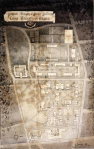 Figure 2: Sheppard & Calvin, Proposed Grouping of Future Buildings Scheme B 1920.  Queen's University Archives, V36.5.